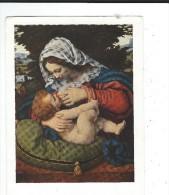 Vierge Allaitant Enfant Jesus Maternite Solario Art Vierge Coussin Vert Neuveed Nomis Louvres TBE - Pittura & Quadri