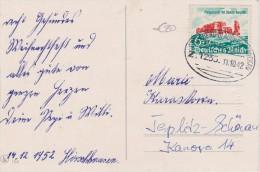 ALLEMAGNE  1942 CARTE AVEC CACHET FERROVIAIRE STOLLBERG-GLAUCHAU-ZWICKAU - Storia Postale
