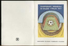 ITALIA   -  ITALIA 90  -   COPPA DEL  MONDO   Serie Di  7  Cartoline Illustrate Da Nane Ainardi - 1990 – Italie