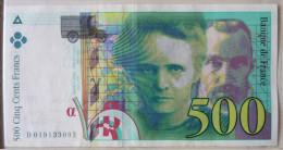 500 Francs 1994    Pierre Et Marie Curie - 1992-2000 Dernière Gamme