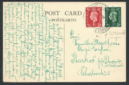 Angleterre Carte Affr 1/2d + 1d Càd KONGRESS DE ESPERANTO / LONDON/1938 Pour La Tchécoslovaquie - Esperanto