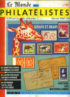 Le Monde Des Philatelistes N.405,2/87,girafe Okapi,vignette Essai,Cérèes 25c,Frama,LibourneNationalisme Europe 1789-1913 - Français (àpd. 1941)