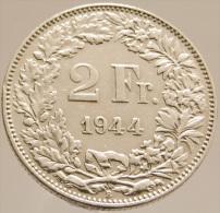2 Francs  - Suisse - 1944 - Argent -  TTB+ - - Swaziland