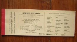 Rare Carnet De Chèque Du Crédit Du Nord De 1952 ! - Chèques & Chèques De Voyage