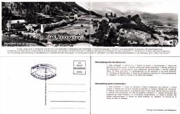 "OBERSALZBERG NACH DER ZERSTÖRUNG / BERGHOF : ADOLF HITLER'S ""EAGLE'S NEST"" - CARTE VRAIE PHOTO DOUBLE ~ 1945 (t-825) - Berchtesgaden"