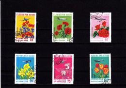 1971 - GABON - O/FINE USED -  FLOWERS - BLUMEN - Mi 424/30 - Yv PA 112/7 - Gabon
