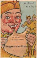 """1920  .  NOGENT  LE  ROTROU  ;  CARTE    A  SYSTEME """"  AU  PINARD  LA  D'DANS   ! - La Ferte Bernard"""