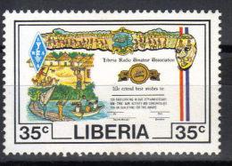 Liberia,25 Years Of Radio Amateurs 35c 1987.,key Value Stamp,MNH - Liberia