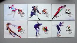 Norwegen 1145/50 Maximumkarte/MC 1/6 1994, Olympische Winterspiele, Lillehammer - Maximumkarten (MC)
