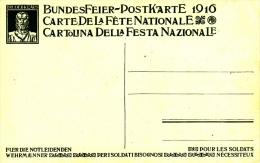 Bundesfeierkarte 1916 Ohne Werzeichenaufdruck / Ceres Fête Nationale Sans Timbre Imprimé ** - Stamped Stationery