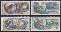 4350. Russia, USSR, 1976, Cosmos - Cosmonauts, MH (*) Michel 4460-4463 - 1923-1991 USSR