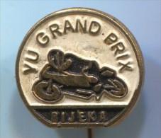 Motorbikes, Motorcycle, Speedway Motocross - Grand Prix, RIJEKA Fiume, Croatia, Vintage Pin, Badge - Motos