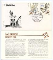 San Marino 1982 Scott 1019-1020 FDC Europa, Convocation & Napoleon's Treaty
