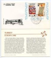 Cyprus, Turkish 1982 Scott 114a-b FDC Europa, Charter & Turkish Forces