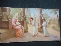 """IMAGE Pieuse Ancienne -Ofrande Des Anges à La Sainte Vierge Et Jésus- """"(M H MALVEIL 1932) - Religion & Esotericism"""
