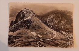 Carte Postale Ancienne : Vue Aérienne Des Ruines Du Chateau De MONTSEGUR, Ariège - France