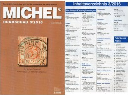 MICHEL Briefmarken Rundschau 3/2016 Neu 6€ New Stamps Of The World Catalogue/magacine Of Germany ISBN 978-3-95402-600-5 - Deutsch