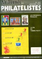 Le Monde Des Philatelistes N.382,président Republique,carte Voeux,faux Sperati,fiscal état Civil,Norvège Polaire - Magazines