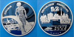 FRANCE 1,5 E 2003 ARGENTO PROOF FRANCE EURO COURIR PARIS 03 SAINT DENIS ATHTLETICS PESO 22,2g TITOLO 0,900 CONSERVAZIONE - France