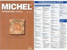 MICHEL Briefmarken Rundschau 3/2016 Neu 6€ New Stamps Of The World Catalogue/ Magacine Of Germany ISBN 978-3-95402-600-5 - Phonecards