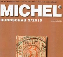 MICHEL Briefmarken Rundschau 3/2016 Neu 6€ New Stamps Of The World Catalogue/magacine Of Germany ISBN 978-3-95402-600-5 - Pin's