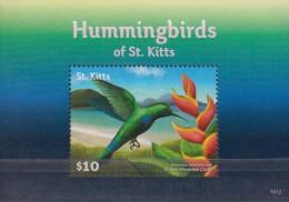 St.Kitts.2015.Birds.Hummingbirds Sheet.1v.MNH 22418-V3 - Birds