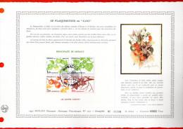 """Document Artistique Philatélique Nté / Soie De 1981 (2600 Ex.) """" LE KAKI """" N°YT BF 20 (1302 à 1305). Parf état. DAP - FDC"""