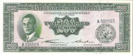 Philippines - Pick 140 - 200 Pesos 1949 - Unc - Filippine