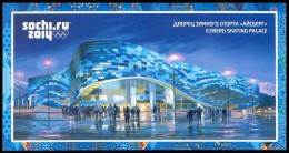 """RUSSIA 2013 ENTIER POSTCARD 237/5 Mint SOCHI OLYMPIC GAMES 2014 """"ICEBERG"""" STADION STADIUM SKATING PALACE WINTER SPORT - Winter (Other)"""