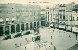 RARA A VER ! REUS 1928 PLAZA DE PRIM THEMES ESPANA ESPAGNE CATALUNA TARRAGONA - Tarragona