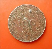 Brazil 100 Reis 1938 Almost Holed - Brazil