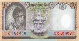 NEPAL 10 RUPEE POLYMER BANKNOTE KING GYANENDRA 2005 PICK - 54 UNC - Nepal