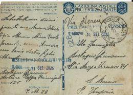 FRANCHIGIA WWII POSTA MILITARE 23 1942 ATENE GRECIA X SANREMO - Poste Militaire (PM)