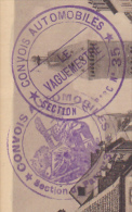 "2 Cachets Double Couronne Centres Différents ""Convois Automobiles - Section De Parc N° 35  Circulé 1919 Sur CP - Military Postmarks From 1900 (out Of Wars Periods)"