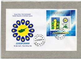 CIPRO / KIBRIS / KYPROS - 2000 / EUROPA CEPT / FOGLIETTO / SHEET - GIORNO EMISSIONE / FDC - LBcip - Chypre