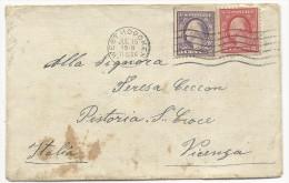 USA - 1918 - ENVELOPPE De WEST HOBOKEN Pour VICENZA (ITALIE) - Covers & Documents