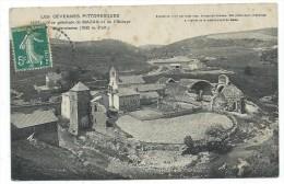CPA  - VUE GENERALE DE MAZAN ET DE L' ABBAYE CISTERCIENNE - Ardèche 07 - Circulé 1908 - Francia