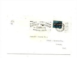 Fb354 - IRLANDA , Lettera Commerciale Per L'Italia - Storia Postale