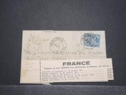 FRANCE - Env Avec N° 90 Perforé CA (Claude Lafontaine) - Mai 1881 - A Voir - P16827 - Perforés