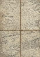 Carte Militaire Toilée Du Camp De BEVERLOO  42cm X 75 Cm. Probablement 1884 ? RR - Cartes Topographiques
