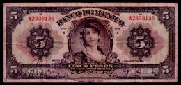 Mexico 5 Pesos 1933 VG+ - Mexique