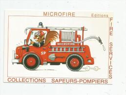 G-I-E , Cp , COLLECTIONS SAPEURS POMPIERS , Fire Service , Publicité : Microfire , Objets De Collections , Paris - Brandweer