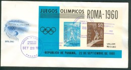 PANAMA Block On First Day Cover - Summer 1960: Rome