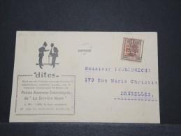 BELGIQUE - Carte Pub (sté Dites) Avec Préo - Tarif Imprimé - Août 1947 - P16841 - Werbung