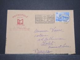 BELGIQUE - Env Entête Hotel Métropole De Bruxelles Pour Cholet En France - Dec 1938 - P16843 - Werbung