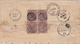 India; Registered Cover 1899 - 1882-1901 Empire