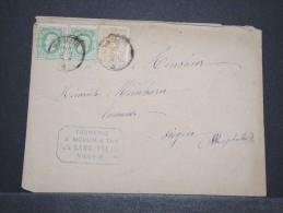 BELGIQUE - Env De Namur Pour Siègen Avec Compo 10 + 10 + 5 C - Juil 1878 - A Voir - P16845 - Werbung