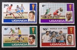 """ARGENTINA´78"" - SURCHARGES NOIRES - NEUFS ** - YT 156/59 - MI 183/86 - Uganda (1962-...)"