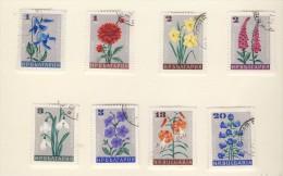 BULGARIE 1966 FLEURS  YVERT N°1475/82  OBLITERES - Végétaux