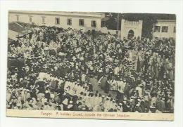 CPA : Maroc  TANGER / JOUR DE FETE DEPART DE LA LEGATION ALLEMANDE   / ECRITE 1924  EDT NJ - Tanger